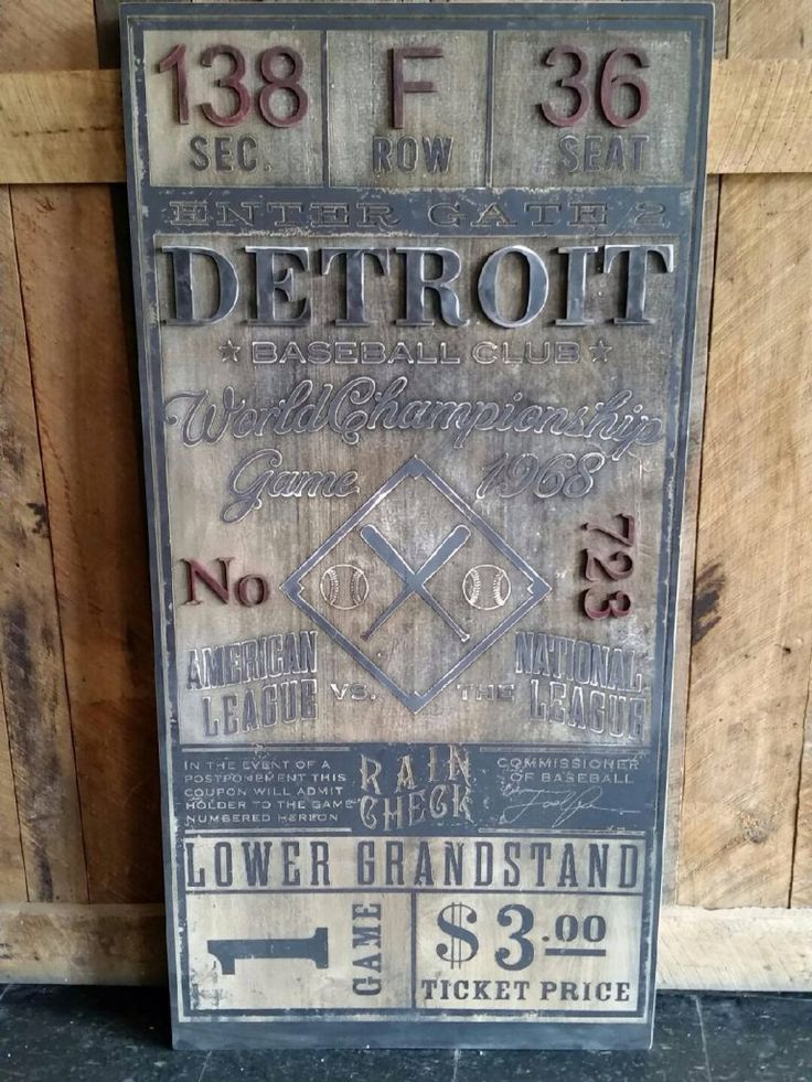 Detroit Tigers Ticket - Todd Lindsay Designs