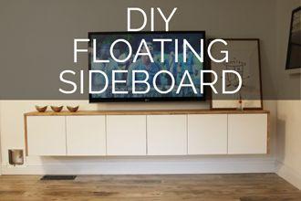 DIY Floating Sideboard Tutorial