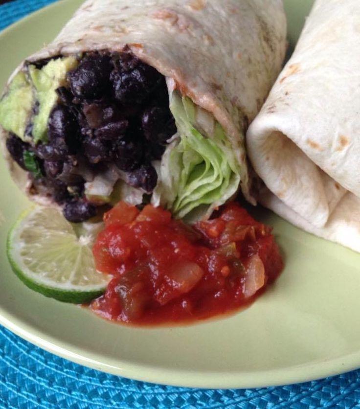 Happy Birthday Cesar Chavez - Vegan Spicy Bean Burritos #whatveganseat #cesarchavez #spicyburritos #veganmexican