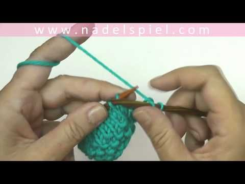 Maschen zunehmen ohne Loch zu erzeugen * Masche aus Querfaden verschränkt herausstricken - YouTube