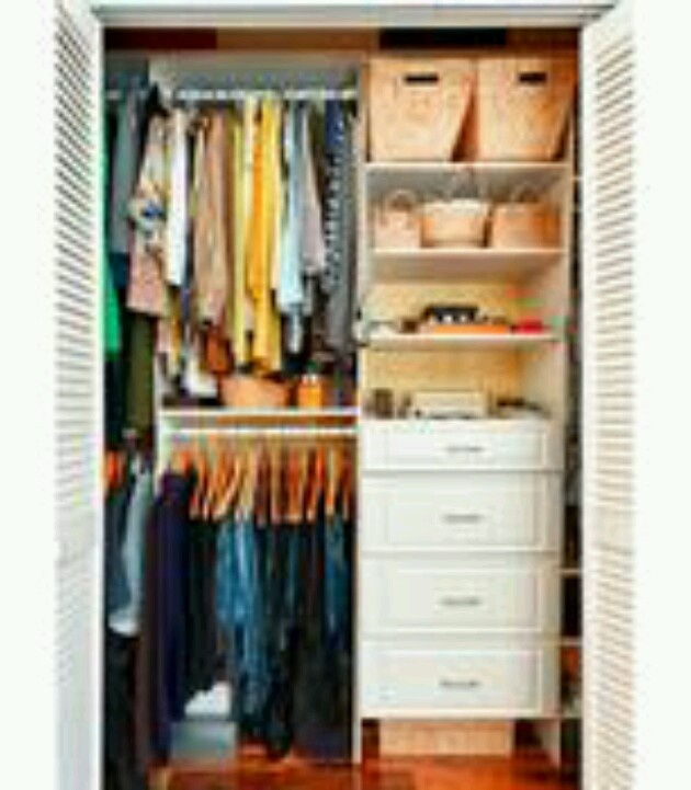 Attractive Great Set Up For A Small Closet!