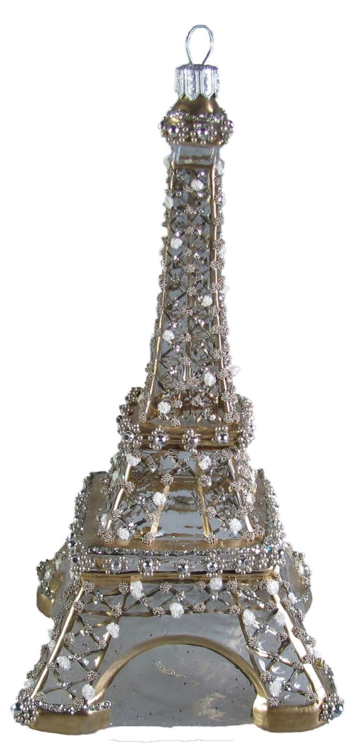Eiffel tower christmas tree ornament - Perfect For The All Silver Tree Crystal Embellished Eiffel Tower Ornament
