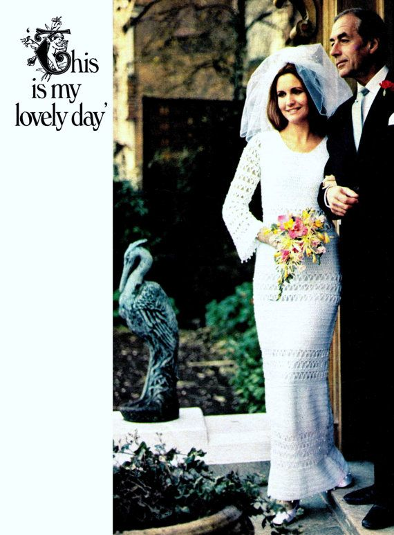 Vintage CROCHET Dress Pattern  Maxi Pattern PDF by carolrosa, $2.95