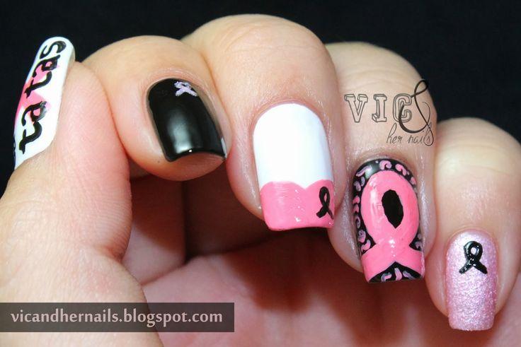 Vic und ihre Nägel: Oktober N.A.I.L. – Thema 1: Brustkrebsbewusstsein   – Breast Cancer Awareness
