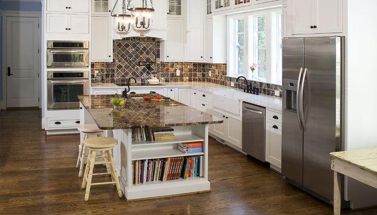 Gallery classic caesarstone island matching backsplash - Black owned interior design companies ...