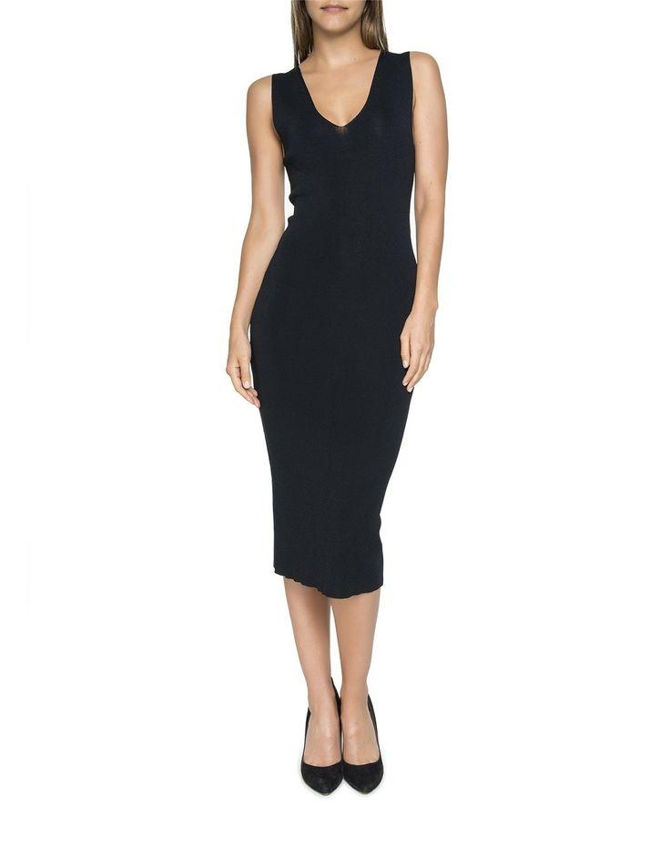 V-Neck Body Con Dress