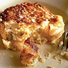 Double-smoked fish cakes
