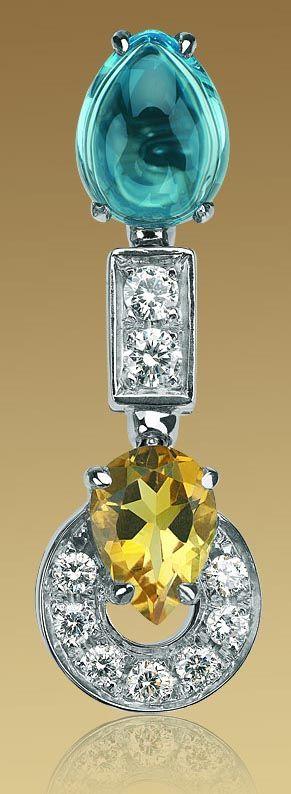 bulgari color collection short pendant earrings 3