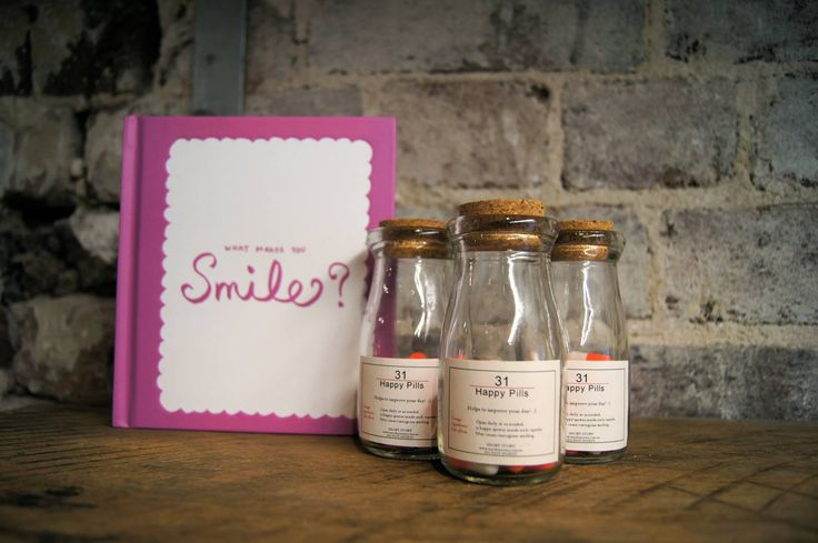 Happy Pills - Every pill has a pick-me-up message inside, just to make you smile | $25 #QuirkyCowGifts #Christmas