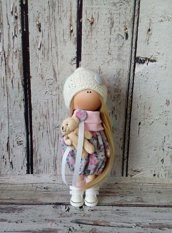 Rag doll Tilda doll Cloth Art doll handmade by AnnKirillartPlace