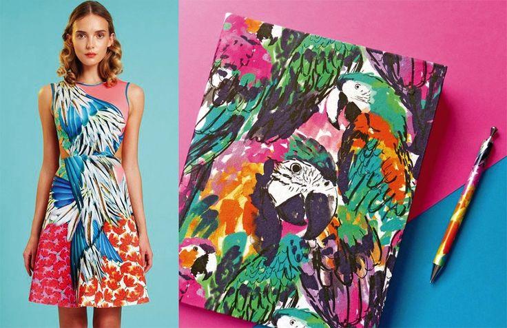 Exotica: wilde prints voor de lente van 2016 #trends #tropical #birds #prints #patterns #SS16 #spring