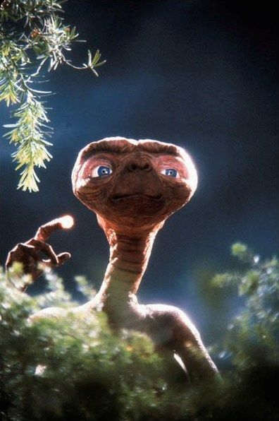 "You know you think of E.T. as a kid's movie, right?  Well I had it on one day and Sam was less that 2, I walked in the room and he was sitting up, huge eyes, going, ""ouh, ouh Momma, what dat?"" He was so darn cute."