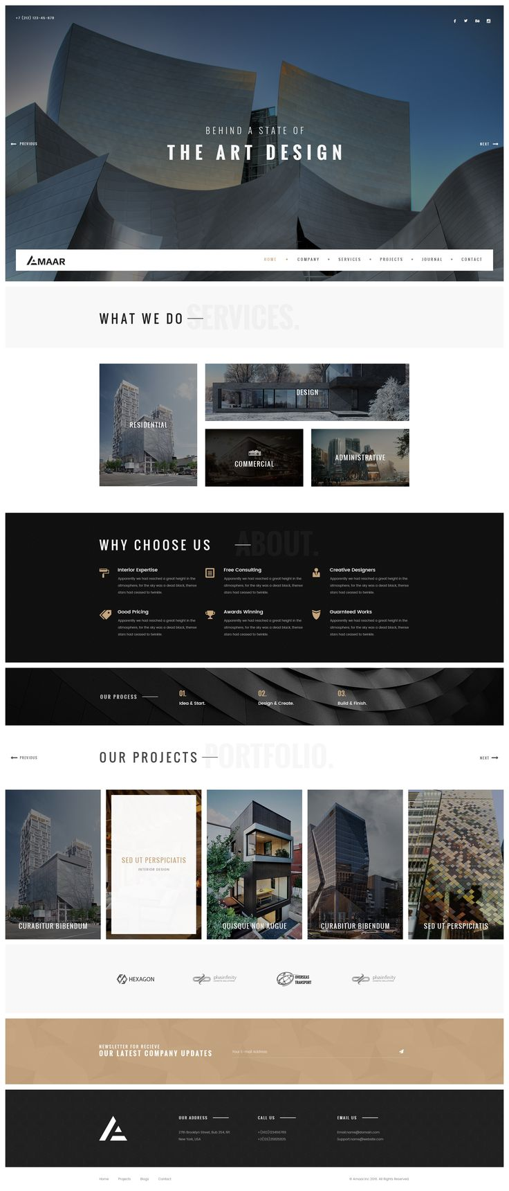 Amaar   Creative Architecture & Interior PSD Template #psd #architecture #construction • Download ➝ https://themeforest.net/item/amaar-creative-architecture-interior-psd-template/18711828?ref=pxcr