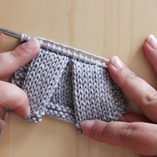 Réaliser pli creux et autres techniques tricot