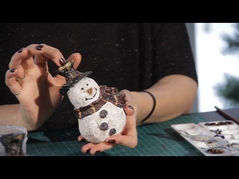 «Ручная работа». Винтажный снеговик (21.12.2016) - YouTube