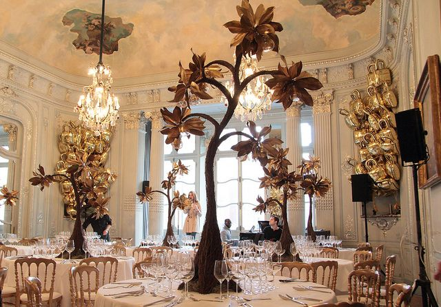 What an amazing room!  (Gold Tree decorations for Mulberry At The Savile Club, London Fashion Week Feb '12 by Ken Marten, via Flickr)
