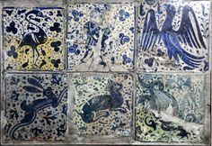 animal tiles with spanish background, 15th century Valencia Inventario: FC.1994.02.135