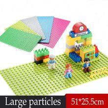 New Wang 1pcs Large particles Building Blocks Baseplate 32*16 Dots Size 51*25cm Base Plate Toys Compatible Legoe Duplo bricks(China (Mainland))