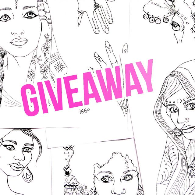 To celebrate reaching 100 subscribers on my YouTube Channel Ivy Lily Creative, I'm having a giveaway! The prize is my Indian and African portraits coloring book. Enter on June 28th 2016 at the latest.