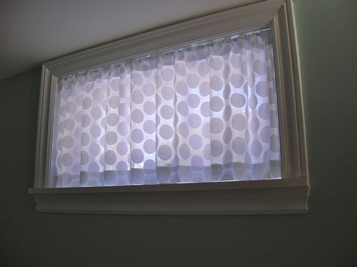 basement window curtain