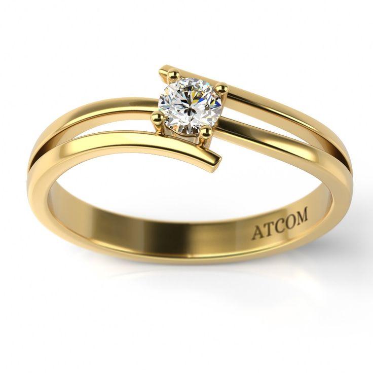 Inel de logodna cu diamant Timotei din aur galben