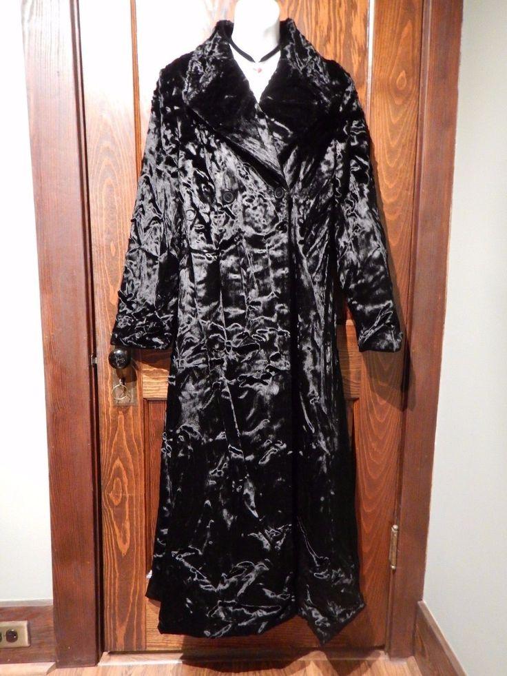 BLANC NOIR luxurious crushed velvet opera coat vintage 90's gothic jacket S M 1D   eBay