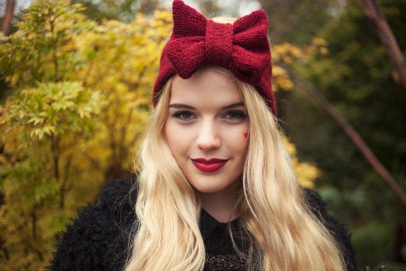 Hey, I found this really awesome Etsy listing at https://www.etsy.com/listing/163779943/ruby-knitted-bow-headband-knitted