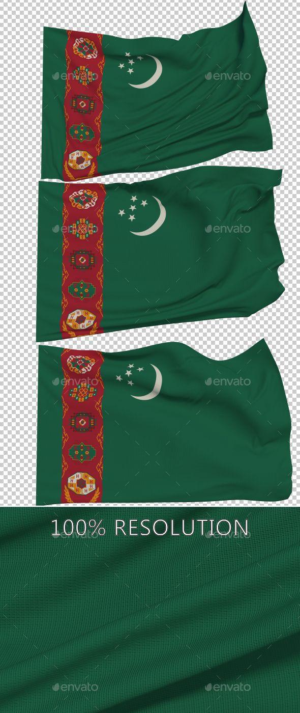 Flag of Turkmenistan - 3 Variants