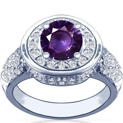 18K White Gold Round Cut Purple Sapphire Ring With Sidestones GemsNY, http://www.amazon.com/dp/B009ISU316/ref=cm_sw_r_pi_dp_2e1Qqb1RY0NV5
