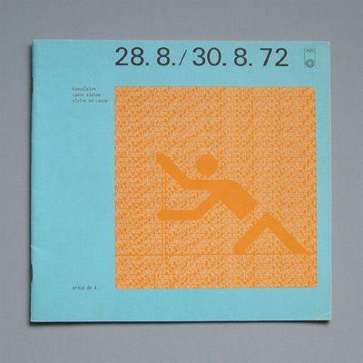 Munich 1972 Olympics Canoe Slalom Programme - Otl Aicher