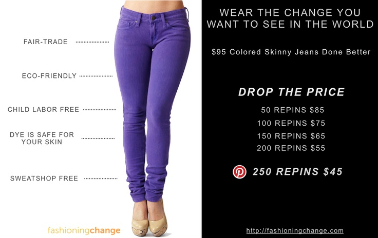 A stylish do good alternative to #Diesel, #JCrew, #CalvinKlein, #Zara, #bebe.        REPIN AND DROP THE PRICE BY 09/10.   :)