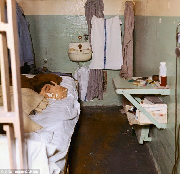 Dummy head used by John Anglin to fool prison guards, Alcatraz, 1962