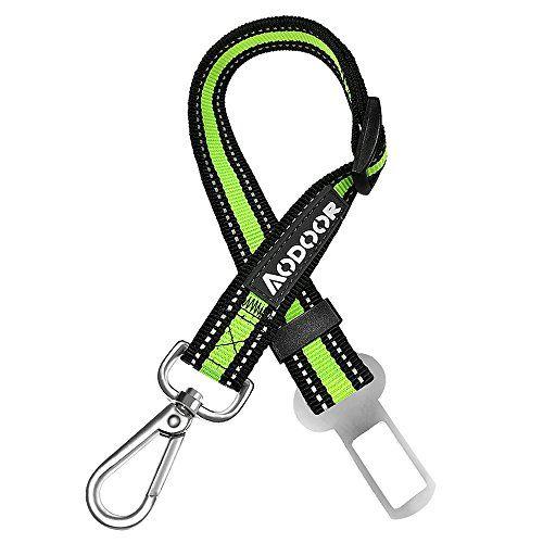 Aodoor Auto Hunde Sicherheitsgurt Hundegurt Sicherheitsgeschirr Hunde Adapter Autosicherheitsgurt 18-27.5 inch 1 Pack Gr�n