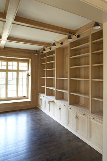 Beautiful built-in bookcases!  And window seat.