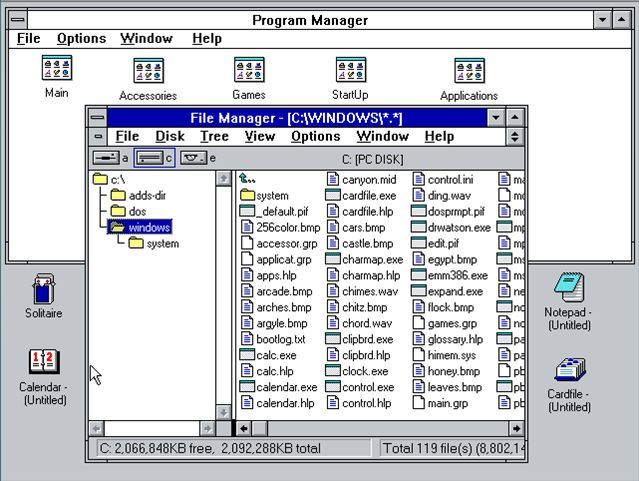 Windows 3.0, 1990