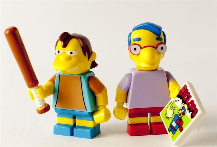 Nya Lego Simpsons Minifigurer - Nelson Muntz & Milhouse på Tradera.com