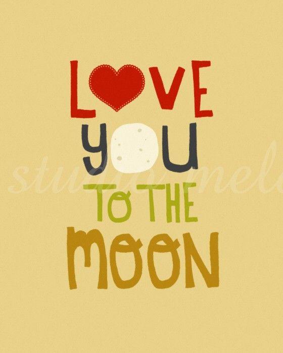and back.Digital Illustration, Kid Art, Heart Illustration, Moon Prints, Art Prints, Art Drawings, Moon And, Illustration Art, The Moon