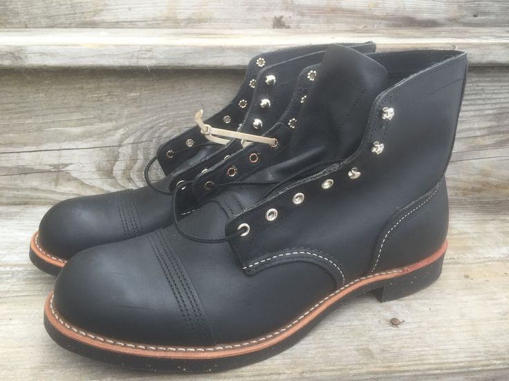 NEW Red Wing 8114 Leather Cap Toe Black Iron Ranger Boots Size 13 D USA  #RedWing #AnkleBoots