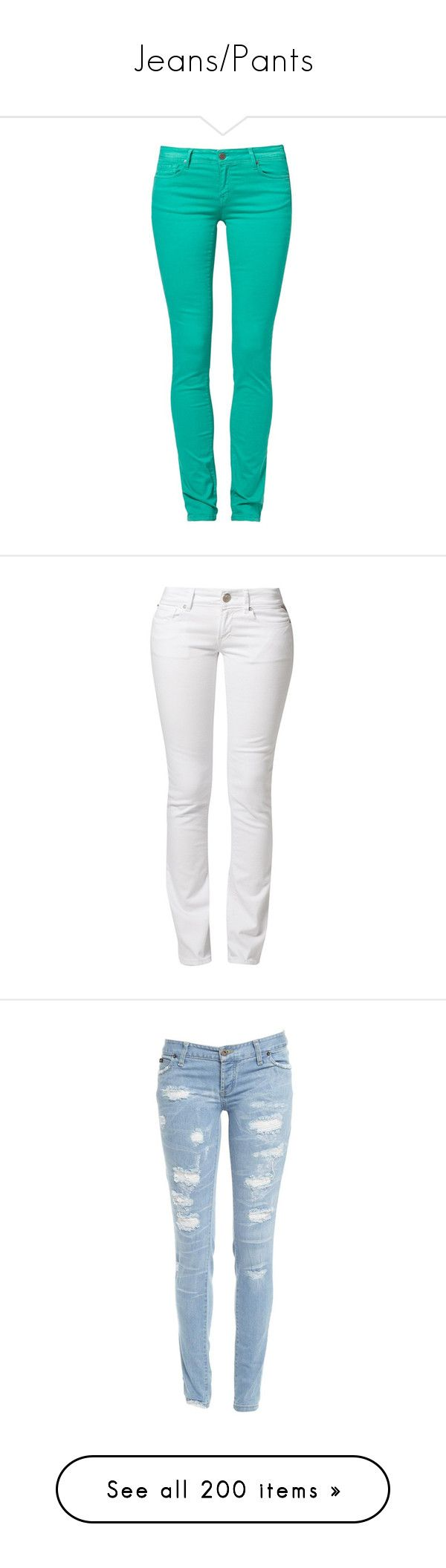 """""""Jeans/Pants"""" by blaizeg ❤ liked on Polyvore featuring jeans, pants, bottoms, housut, green, women's trousers, green jeans, slim jeans, cimarron jeans and slim leg jeans"""