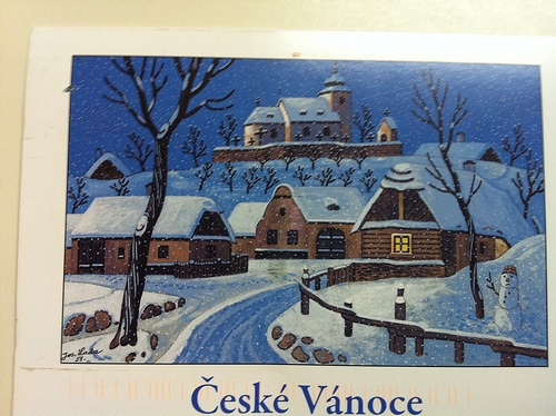"Painting by Josef Lada. ""Ceske Vanoce"" means ""Silent Night"" in English. A Postcrosser from the Czech Republic sent me this Christmas card. (Postcrossing CZ-149789)"