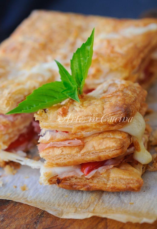 Millefoglie salata prosciutto formaggio e pomodori vickyart arte in cucina