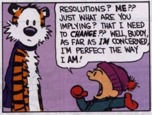 Calvin and Hobbes New Year resolutions