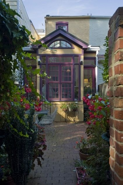 traditional patio by Christine Kelly: Idea, Purple, Color, Traditional Patio, Garden, Sun Room, Crafted Architecture, Sunroom