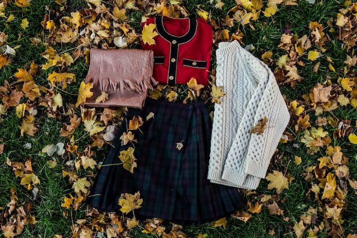 Sweater: http://retrock.com/collections/sale/products/sweater-9   Scarf: http://retrock.com/products/salmon-colored-alpaca-scarf-from-ecuador-hilltribe  Skirt: http://retrock.com/products/black-skirt-2  Blouse: http://retrock.com/products/blouse-33