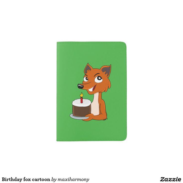 Birthday fox cartoon passport holder
