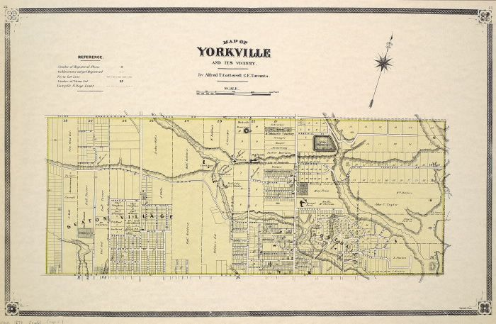 Map of Yorkville and its vicinity. : Toronto Public Library