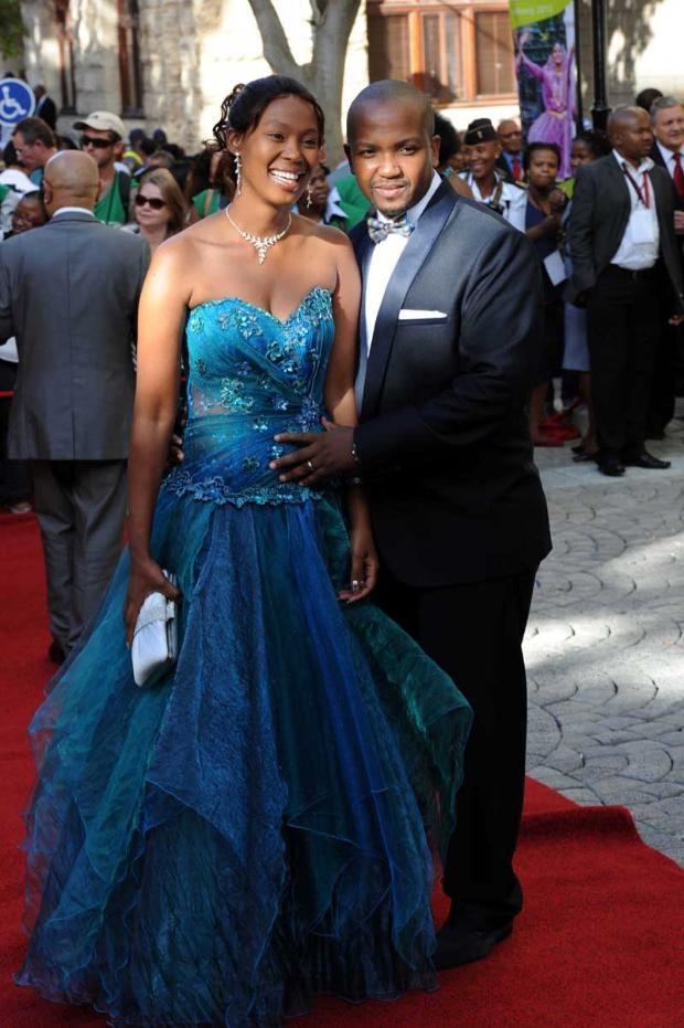 SONA 2013 Fashion | Deputy Minister of communications, Stella Ndabeni with his partner | Moneyweb.co.za