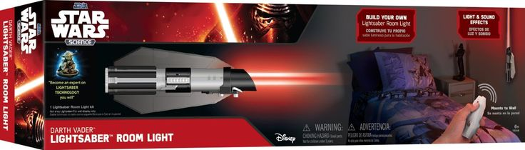 Darth Vader Red Lightsaber Room Light *Star Wars Science: Darth Vader Lightsaber Room Ligh - $26.75* http://glowingwithme.com/colorful-character-base-star-wars-lightsaber-room-light #Star #Wars #Science #Darth #Vader #Red #Lightsaber #Room #Light