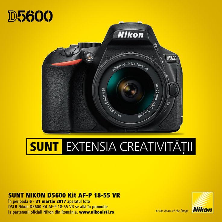 In perioada 6-31 martie 2017 aparatul foto DSLR Nikon D5600 Kit AF-P 18-55mm VR se afla in promotie la partenerii oficiali Nikon din Romania