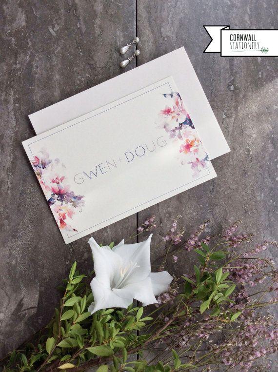 We Do Linen Wedding Invitation    by CornwallStationery on Etsy